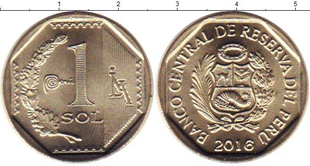 Картинка Мелочь Перу 1 соль Медно-никель 2016