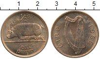 Изображение Мелочь Ирландия 1/2 пенни 1966 Медь XF Свинья с поросятами