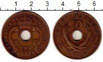 Изображение Монеты Великобритания Восточная Африка 10 центов 1945 Бронза XF