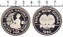 Изображение Монеты Папуа-Новая Гвинея 5 кин 1984 Серебро Proof-