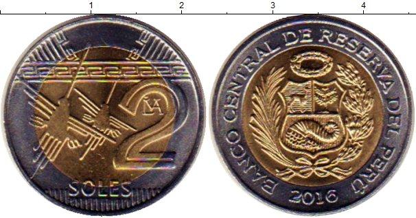 Картинка Мелочь Перу 2 соля Биметалл 2016