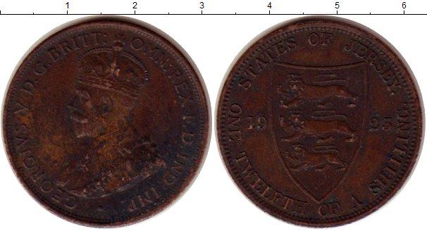 Картинка Монеты Остров Джерси 1/12 шиллинга Бронза 1923