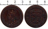 Изображение Монеты Остров Джерси 1/12 шиллинга 1923 Бронза VF Георг V. Герб Джерси