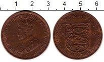 Изображение Монеты Остров Джерси 1/12 шиллинга 1933 Бронза XF Георг V. Герб Джерси