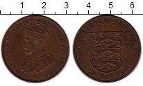 Изображение Монеты Остров Джерси 1/12 шиллинга 1935 Бронза XF Георг V. Герб Джерси