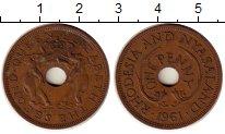 Изображение Монеты Родезия 1 пенни 1961 Бронза XF Елизавета II