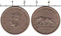 Изображение Монеты Индия 1/2 рупии 1946 Медно-никель XF