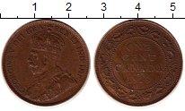 Изображение Монеты Канада 1 цент 1913 Бронза XF