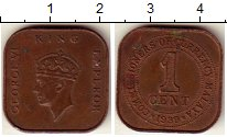 Изображение Монеты Великобритания Малайя 1 цент 1939 Бронза XF
