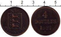 Изображение Монеты Гернси 4 дубля 1902 Бронза XF