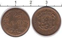 Изображение Монеты Люксембург 25 сентим 1946 Бронза UNC-