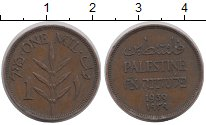 Изображение Монеты Палестина 1 мил 1939 Бронза XF Мандат  Британии
