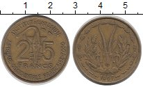Изображение Монеты Французская Западная Африка 25 франков 1957 Латунь XF