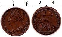 Изображение Монеты Великобритания 1 фартинг 1825 Медь XF