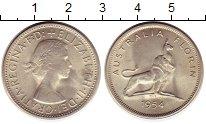 Изображение Монеты Австралия 1 флорин 1954 Серебро UNC-