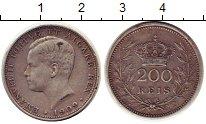 Изображение Монеты Португалия 200 рейс 1909 Серебро XF Эмануил II