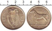Изображение Монеты Ирландия 1/2 кроны 1939 Серебро XF+ Лошадь