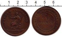 Изображение Монеты Гайана 1 стивер 1838 Медь VF