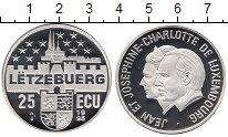 Изображение Монеты Люксембург 25 экю 1995 Серебро Proof Жан  и  Жозефина - Ш