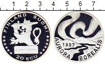 Изображение Монеты Финляндия 20 экю 1997 Серебро Proof AURORA  BOREALIS
