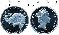 Изображение Монеты Острова Кука 10 долларов 1990 Серебро Proof Елизавета II.  Сохра