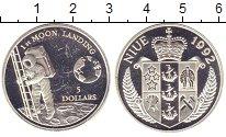Изображение Монеты Ниуэ 5 долларов 1992 Серебро Proof- Первый  человек  на