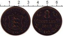 Изображение Монеты Гернси 8 дублей 1889 Бронза XF-