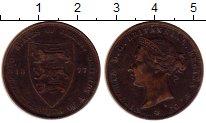 Изображение Монеты Остров Джерси 1/24 шиллинга 1877 Медь XF- Виктория