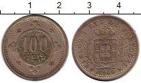 Изображение Монеты Португалия 100 рейс 1900 Медно-никель XF Карлос I