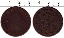 Изображение Монеты Испания 8 мараведи 1820 Медь VF