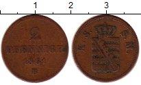 Изображение Монеты Саксония 2 пфеннига 1861 Медь XF- Иоганн (год/тип)
