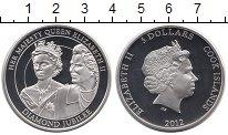 Изображение Монеты Острова Кука 5 долларов 2012 Серебро Proof 60 лет правления Ели