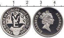 Изображение Монеты Олдерни 1 фунт 1995 Серебро Proof