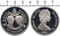 Изображение Монеты Каймановы острова 10 долларов 1981 Серебро Proof