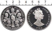 Изображение Монеты Острова Кука 1 доллар 1986 Серебро Proof