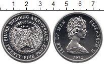 Изображение Монеты Остров Мэн 25 пенсов 1972 Серебро Proof