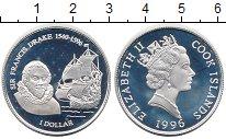 Изображение Монеты Острова Кука 1 доллар 1996 Серебро Proof Сэр Френсис Дрейк