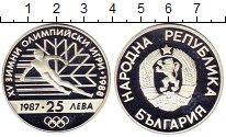 Изображение Монеты Болгария 25 лев 1987 Серебро Proof-