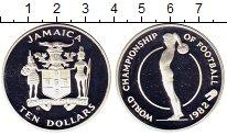 Изображение Монеты Ямайка 10 долларов 1982 Серебро Proof-