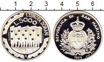 Изображение Монеты Сан-Марино 5000 лир 1999 Серебро Proof-