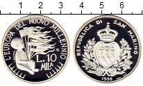 Изображение Монеты Сан-Марино 10000 лир 1998 Серебро Proof-