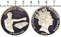 Изображение Монеты Соломоновы острова 10 долларов 1992 Серебро Proof- Олимпиада 92.  Бокс