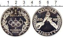 Изображение Монеты США 1 доллар 1988 Серебро Proof- Олимпиада 88.  Факел