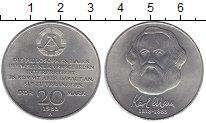 Изображение Монеты ГДР 20 марок 1983 Медно-никель XF Карл Маркс