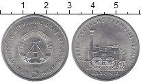 Изображение Монеты ГДР 5 марок 1988 Медно-никель XF `Поезд ``Саксония```