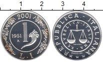 Изображение Монеты Италия 1 лира 200 Серебро UNC-