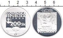 Изображение Монеты Словакия 200 крон 2006 Серебро Proof-