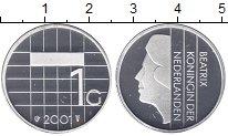 Изображение Монеты Нидерланды 1 гульден 2001 Медно-никель Proof-