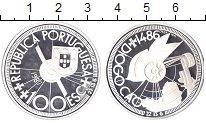 Изображение Монеты Португалия 100 эскудо 1987 Серебро Proof- Диогу  Као