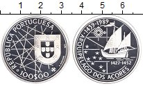 Изображение Монеты Португалия 100 эскудо 1989 Серебро Proof- 550  лет  открытия